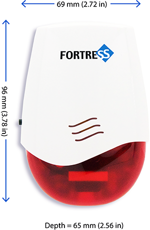 Fortress Small Indoor Plug-In Siren