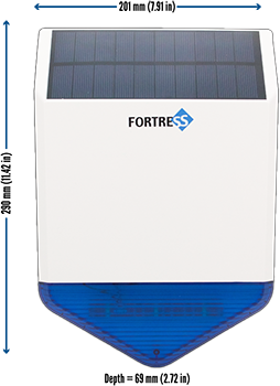 Fortress Solar-Powered Outdoor Siren